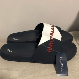 Nautica Stono 4 Navy/White Mens Slide Sandals